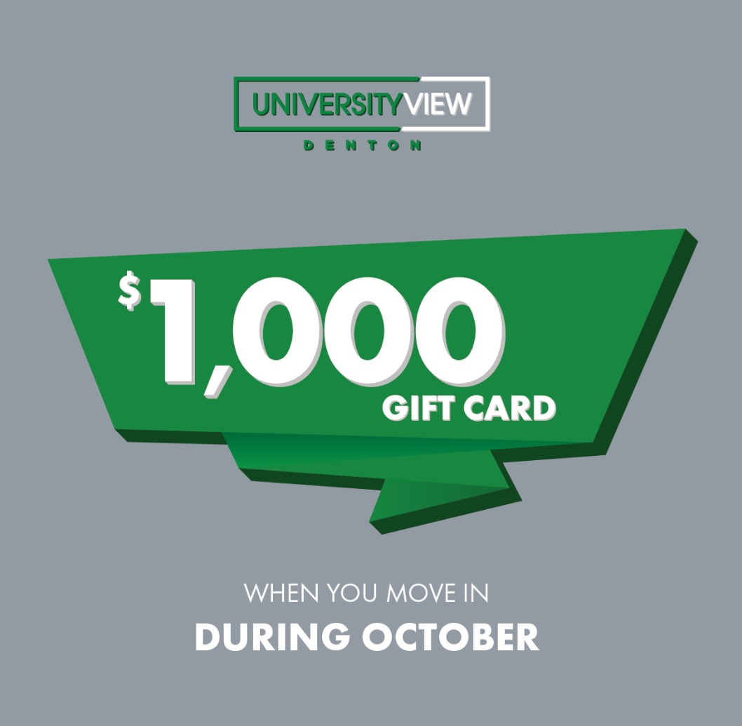 Move In During October Receive $1000