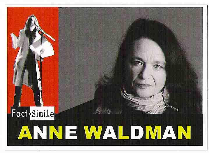Anne Waldman Poetry Trading Card