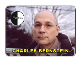 Charles Bernstein Poetry Trading Card