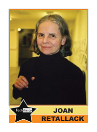 Joan Retallack Poetry Trading Card