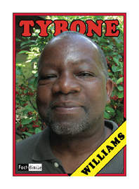 Tyrone Williams Poetry Trading Card