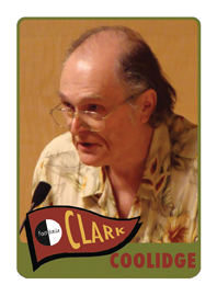 Clark Coolidge Poetry Trading Card