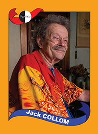Jack Collom poetry trading card