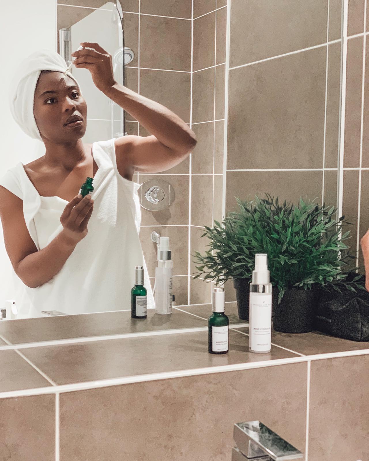My Skincare Routine Featuring Organic Life Plus Rose Hydrosol & Serums