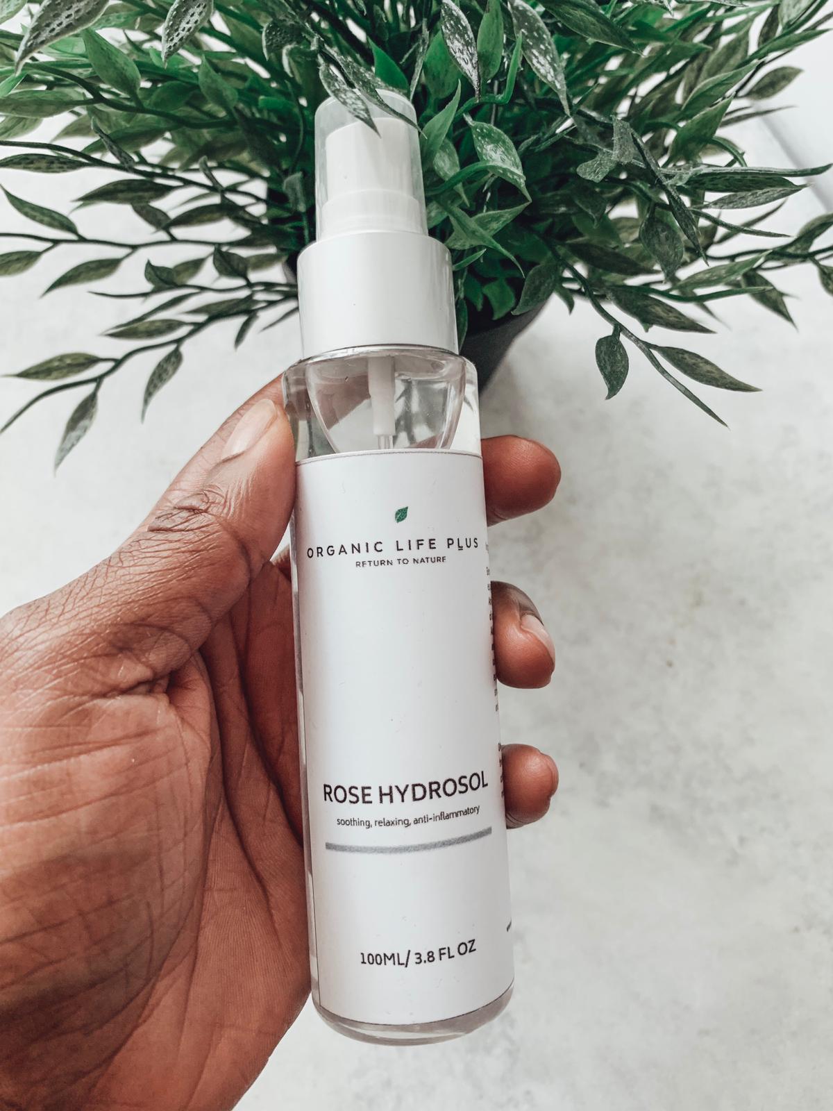 My skincare routine - organic life plus rose hydrosol