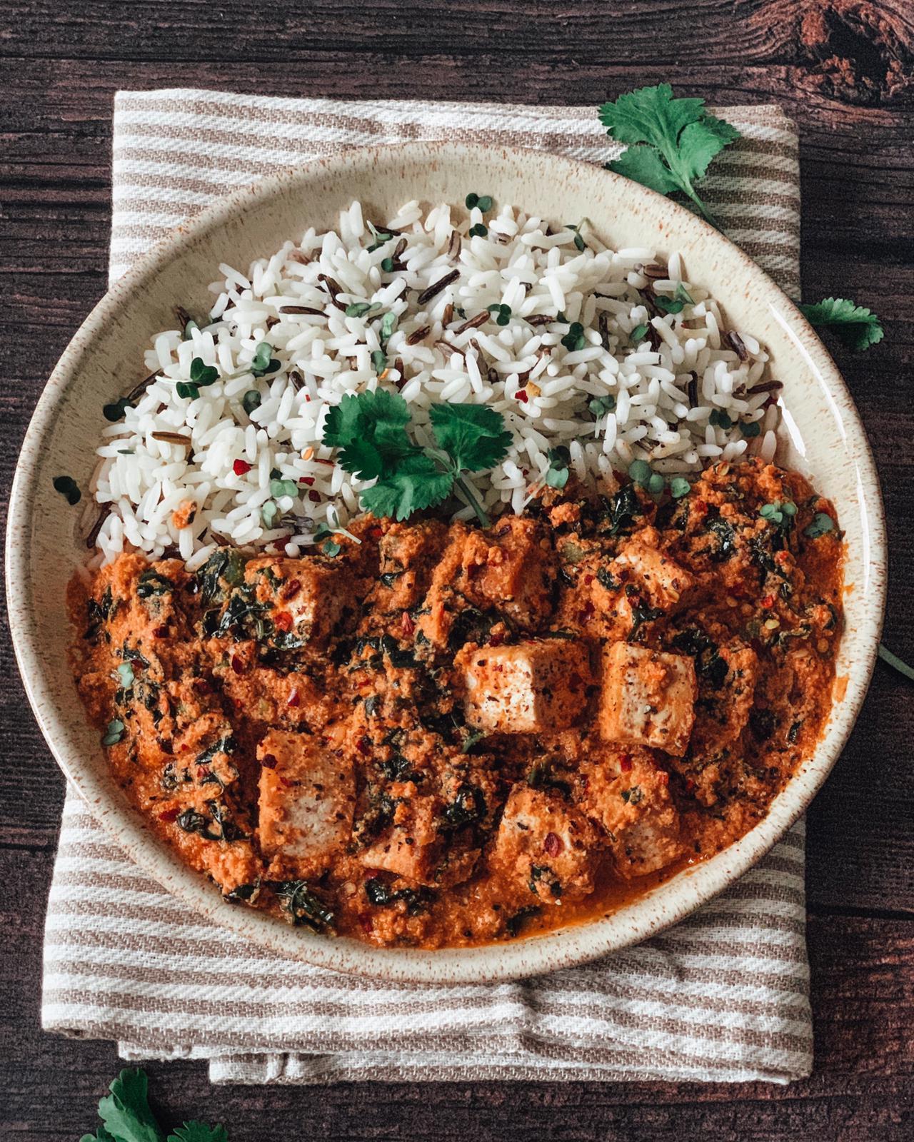 Nigerian-inspired Vegan Egusi (Melon) Seed Stew with Tofu