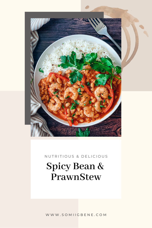 Spicy prawn and bean stew