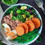Tuna Nicoise Sweet potato buddha bowl