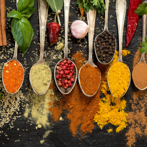 whole food plant-based vegan shopping list - herbs & spices