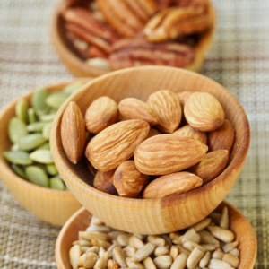 Whole food plant based vegan shopping list - nuts and seeds