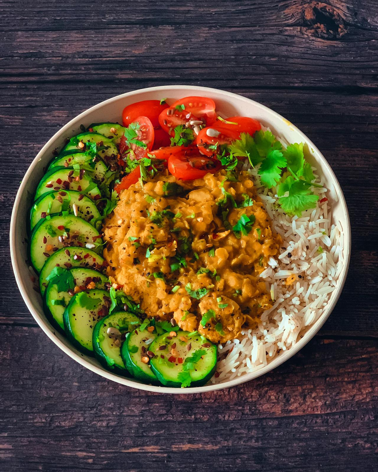 Chicken and lentil curry with coconut milk - somiigbene|1
