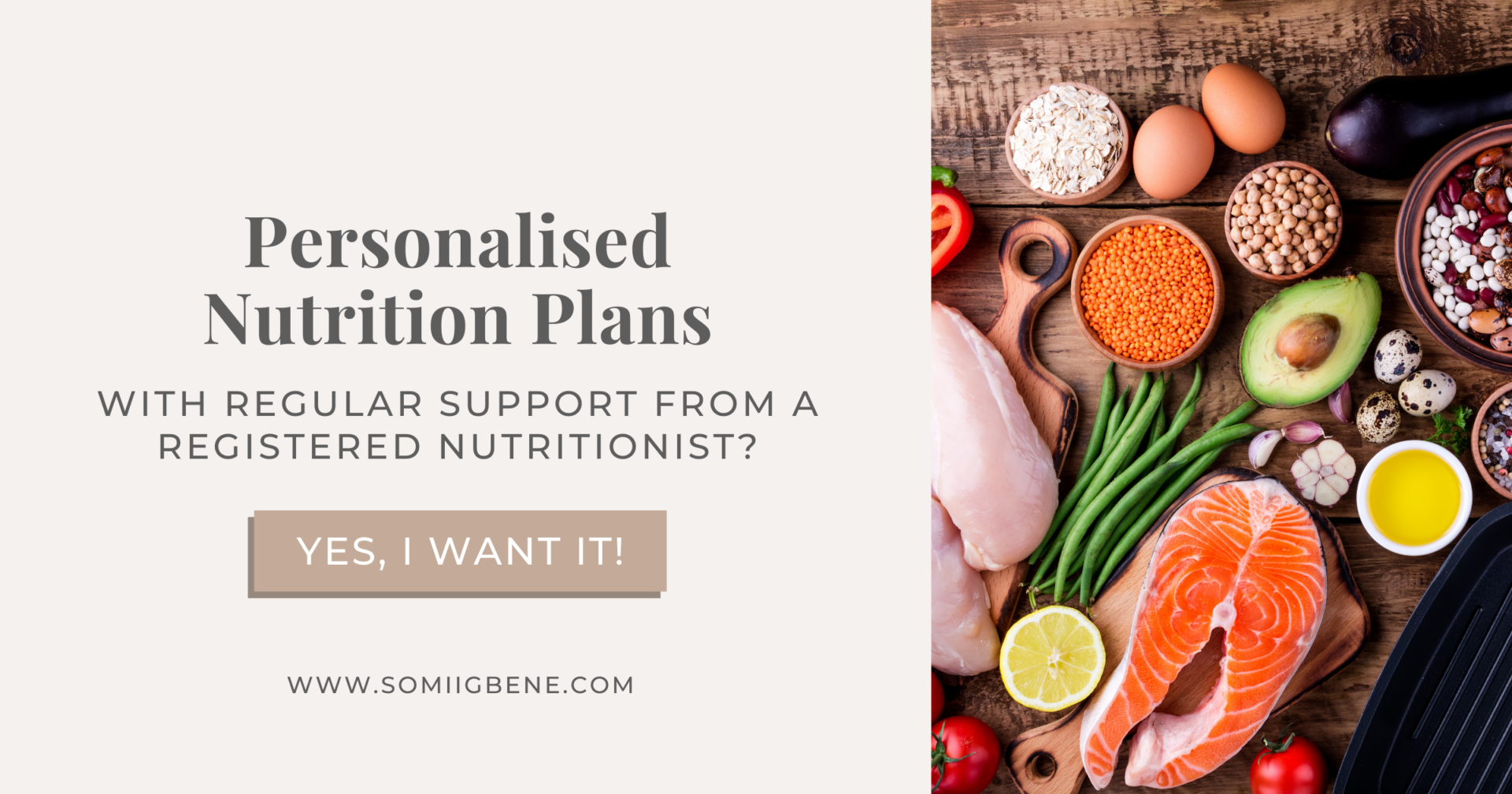 Personalised Nutrition Plans | Somi Igbene ANutr