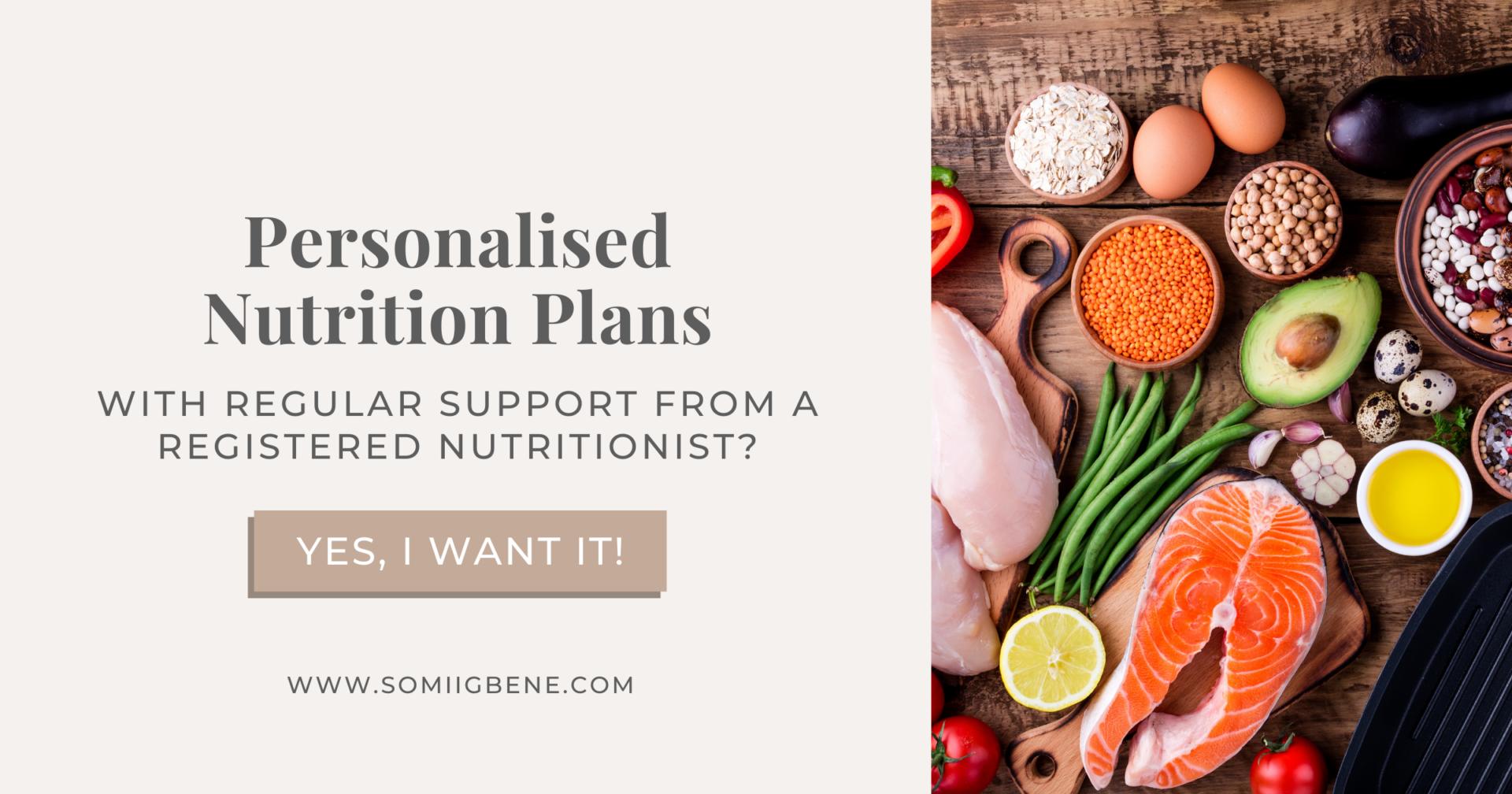 Personalised Nutrition Plans | Somi Igbene ANutr