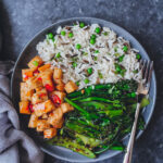 Wild Rice, Tofu & Veg in Sweet Chilli Sauce