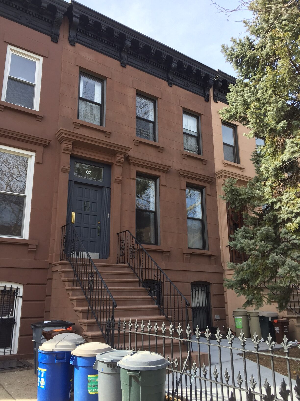 62 2nd St – Carrol Gardens Brooklyn – Brownstone Facade Restoration