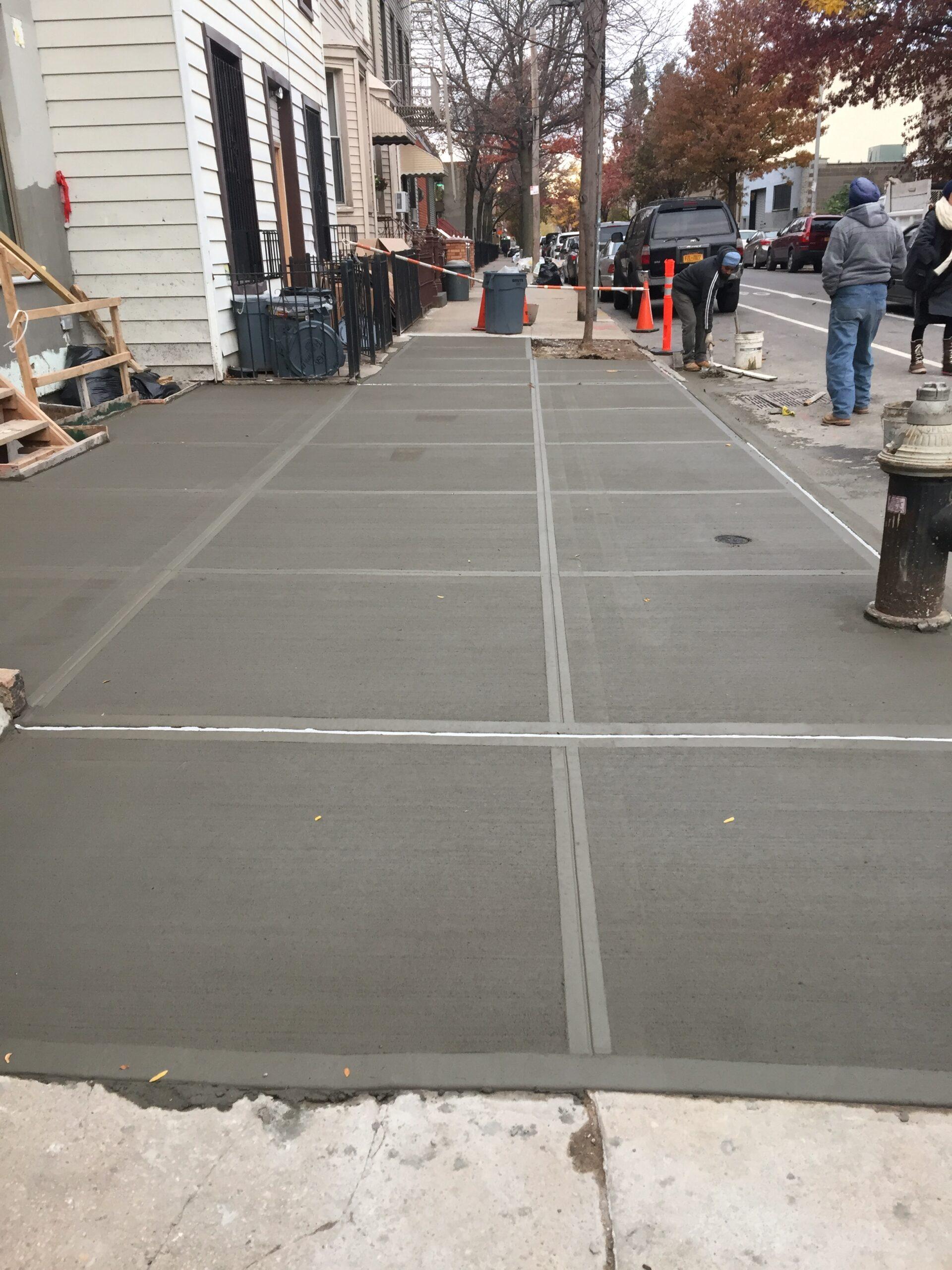 152 Freeman St- Greenpoint Brooklyn- Sidewalk Concrete Repair