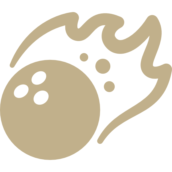 Bowling Bowl on Fire Icon