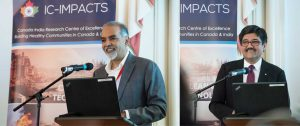 Nemy Banthia, CEO and Scientific Director of IC-IMPACTS, and Barj Dhahan, Board Chair of IC-IMPACTS, at the Special Session on IC-IMPACTS as a Gateway to India, Innovation, and Economic Development
