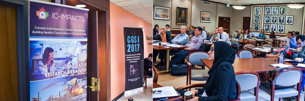 Photo of HQP-led workshop on GFRP-Reinforced Concrete towards Sustainable Infrastructure (CGSI) at University of Toronto, May 2017