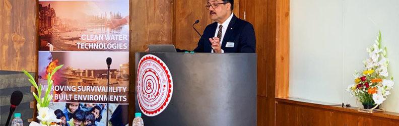 India-Canada Science & Technology Innovation Summit - Nemy Banthia at Podium