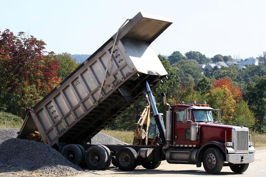 bigstock Peterbilt Dump Truck 889490