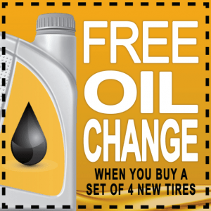 Free Oil Change when you buy tires Coupon Mobile Auto Service
