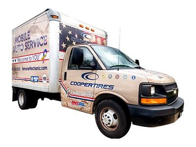 Mobile Auto Service Tan Work Truck Remote Mechanic