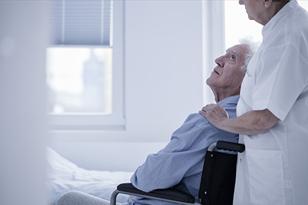 elderly patient in a skilled nursing facility
