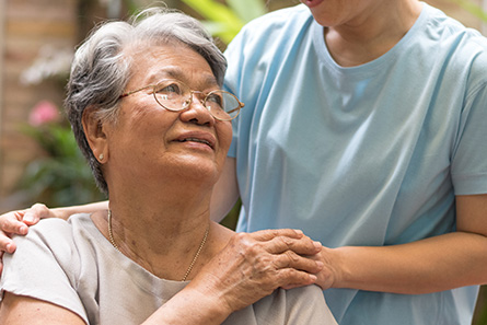 medically complex patient with home healthcare worker from presidium health