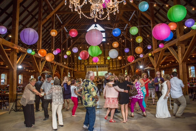 paper lanterns, market lights and chandelier