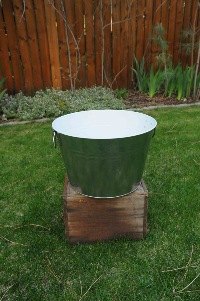 "Galvanized Tub 16""w x 10""h $15"