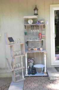 Vintage Door Drink Station with Love shelf
