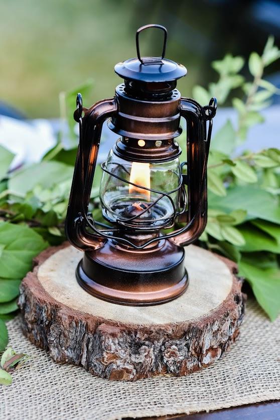 Lantern with oil. $5