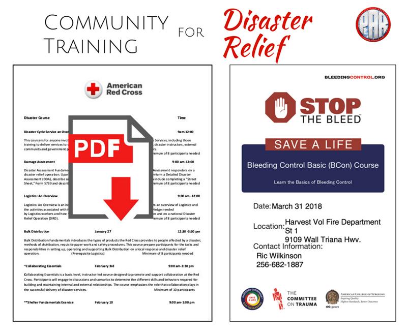 Community Training Red Cross