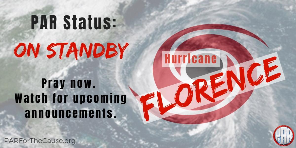 Hurricane Florence - Standby 2018-09-13