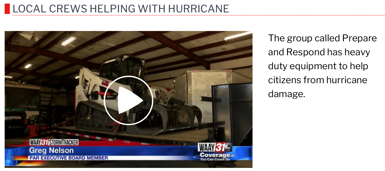 WAAY31 Local Crews Helping with Hurricane-video