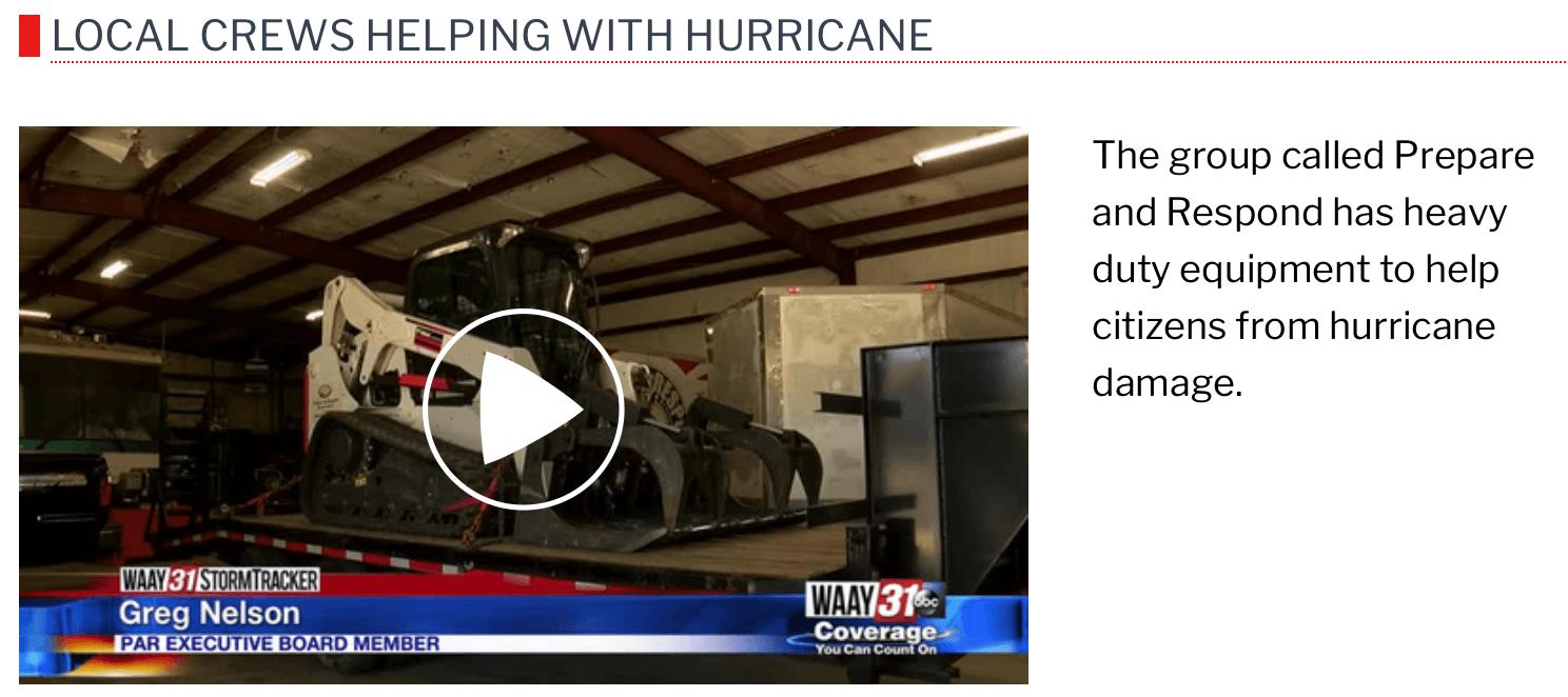 WAAY31 Local Crews Helping with Hurricane-video