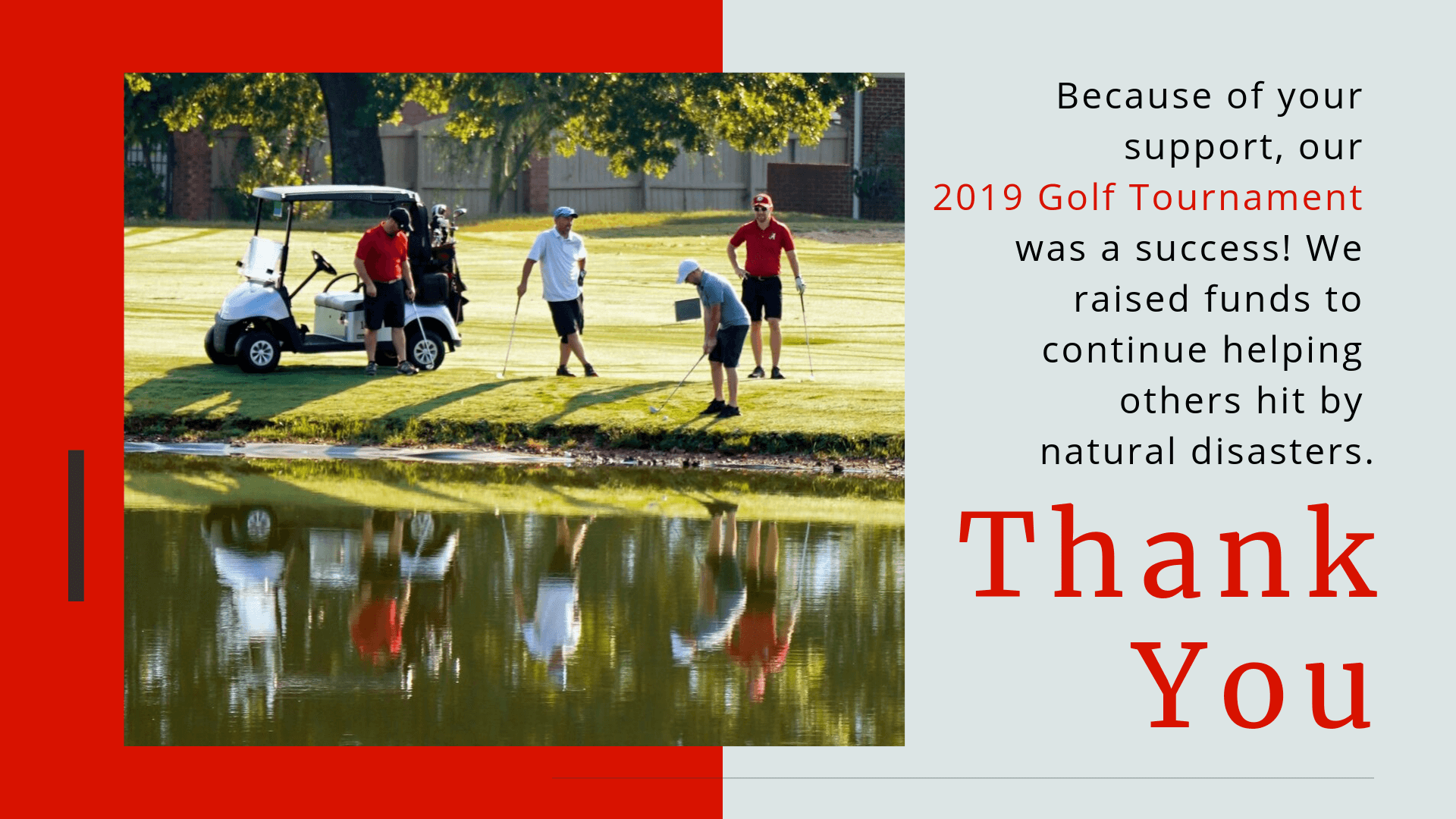 2019 Golf Thank you