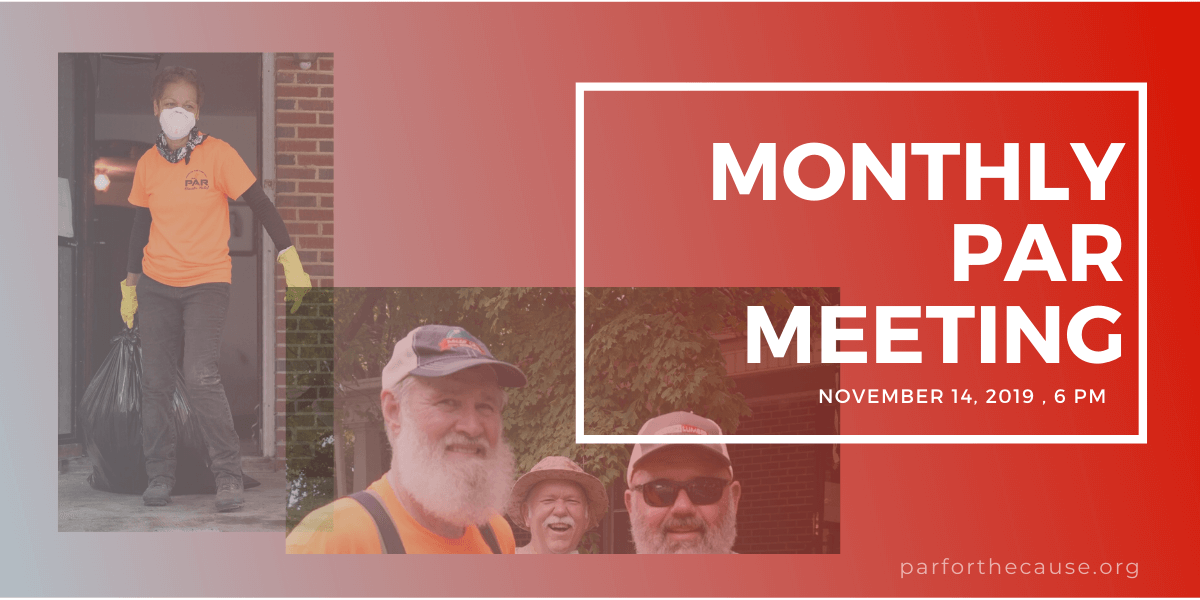 2019-11 PAR Monthly Meeting