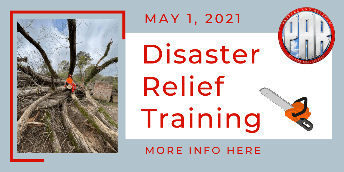 Disaster Relief Training May 2021 info