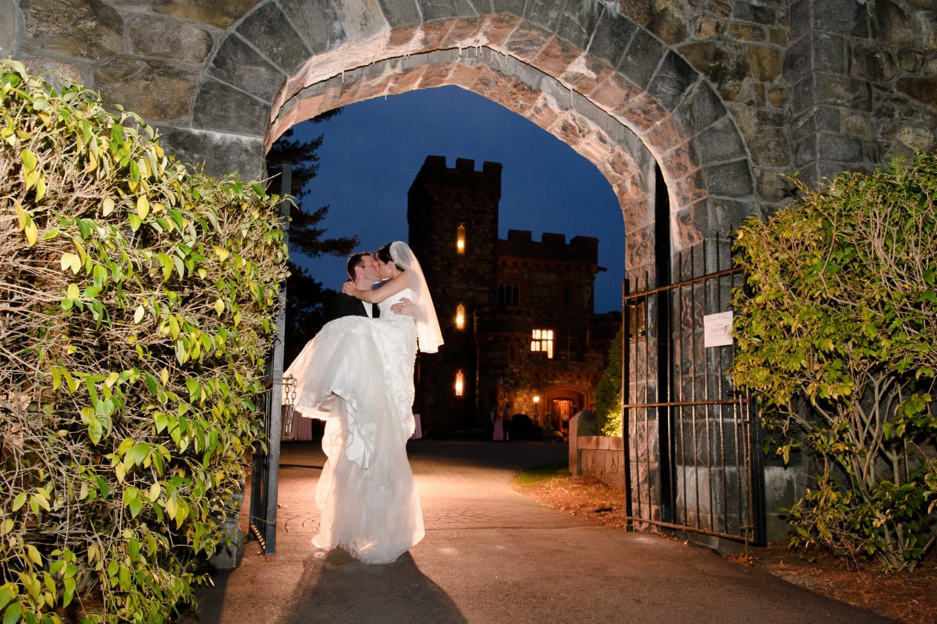 Searles Castle Archway Kiss Night Time