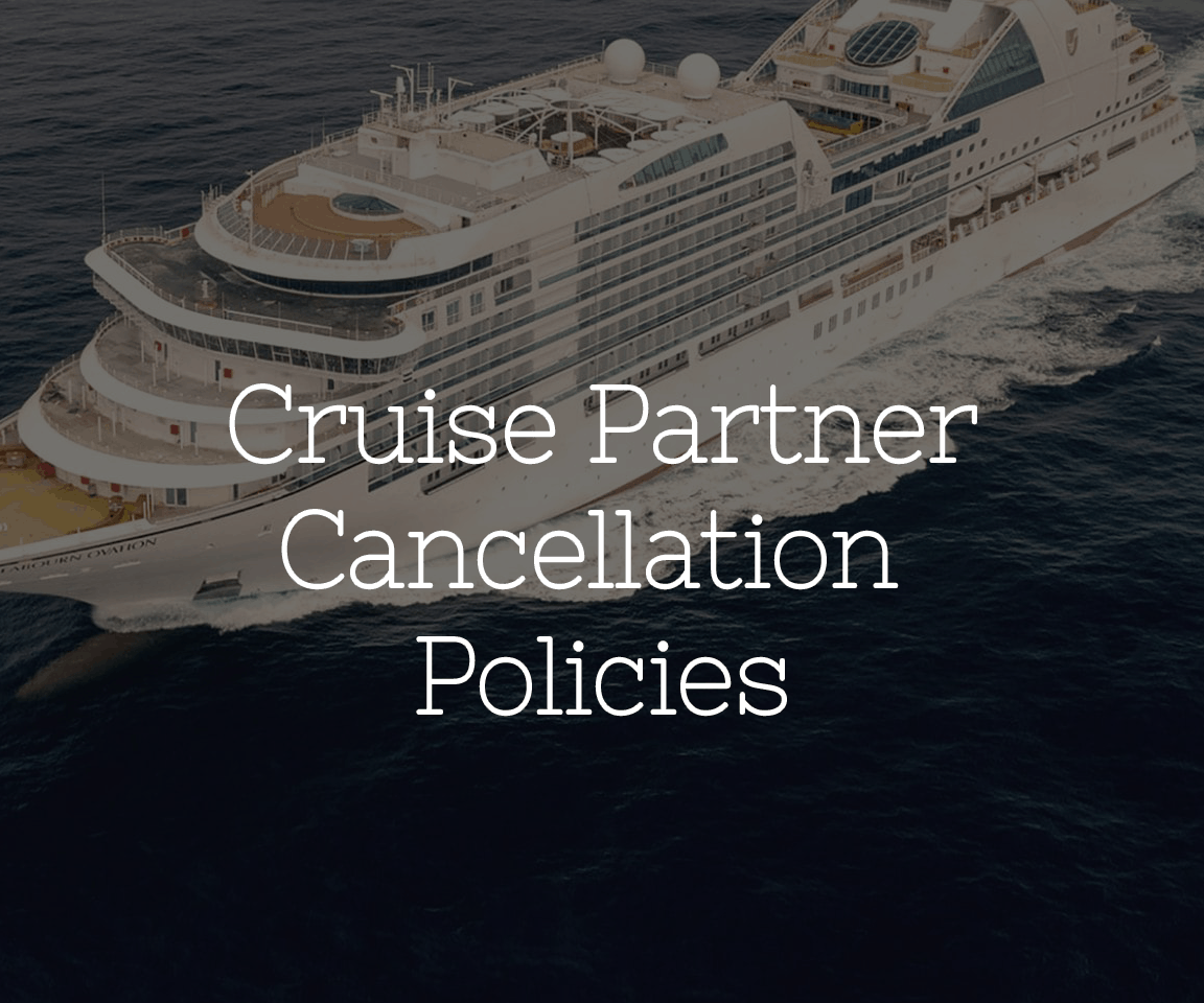 Cruise Partner Cancellation Policies button with ship in background