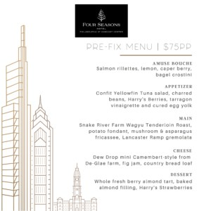 Four Seasons Hotel Philadelphia Mother's Day 2020 Menu offerings