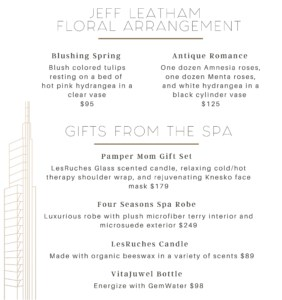 Four Seasons Hotel Philadelphia Mother's Day 2020 Gift offerings