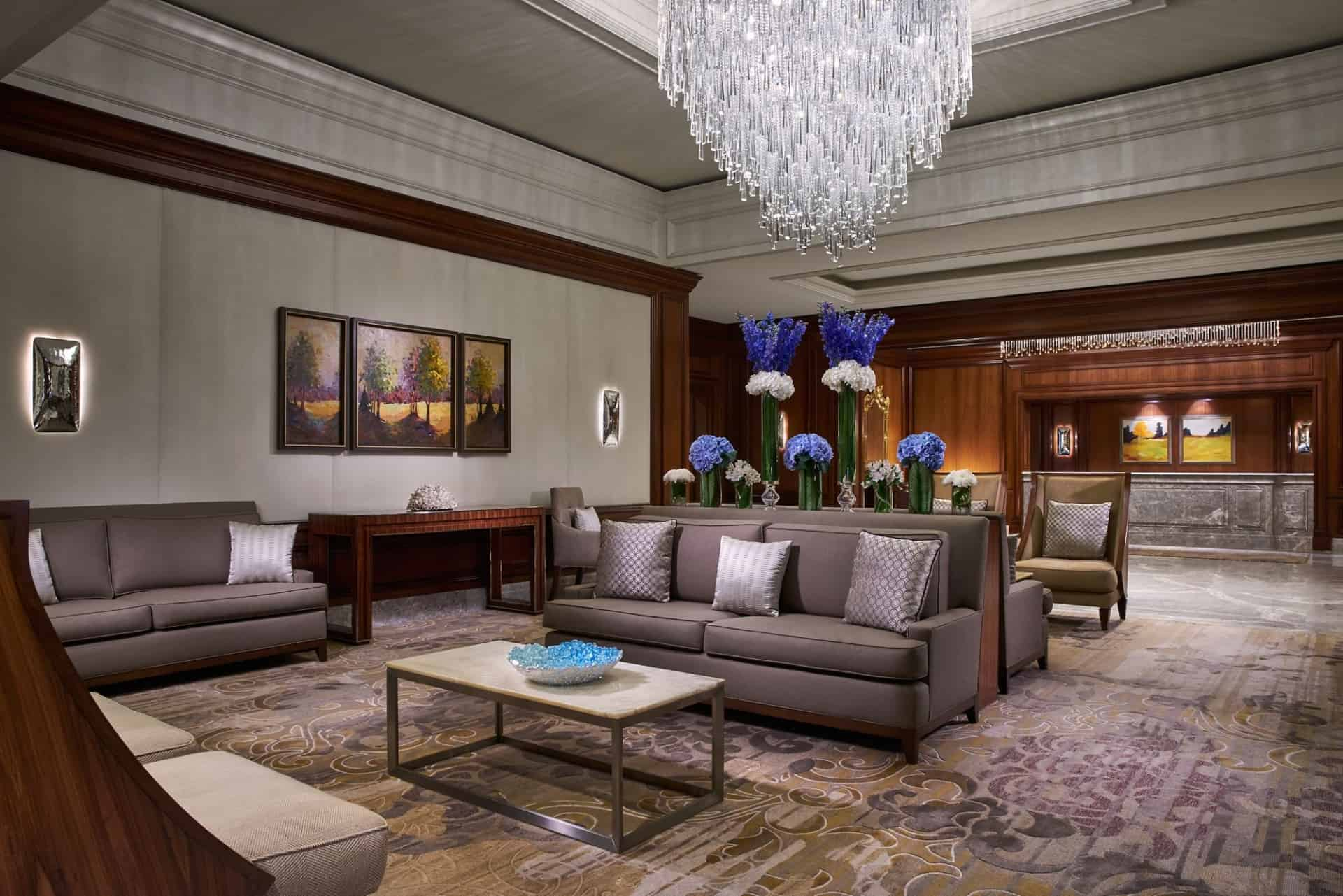 The Ritz-Carlton, Tysons Corner lobby, check-in desk, and lounge area