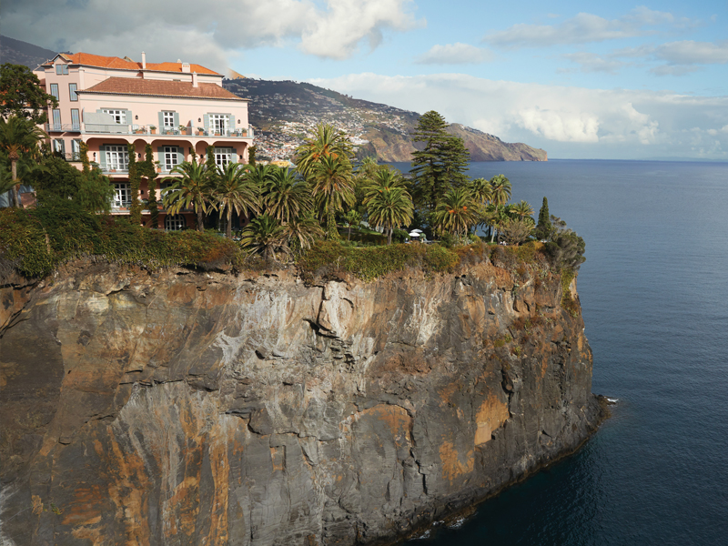 Aerial view of Belmond Reid's Palace on cliff