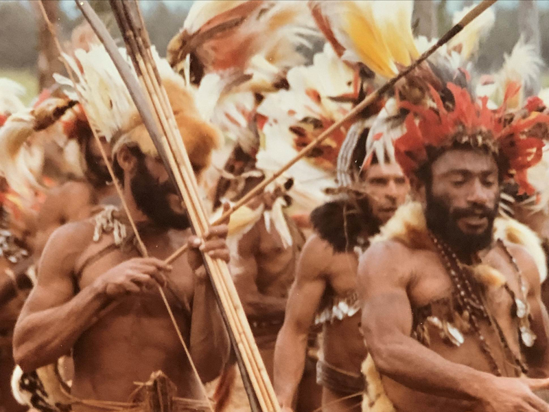 New Guinea native men