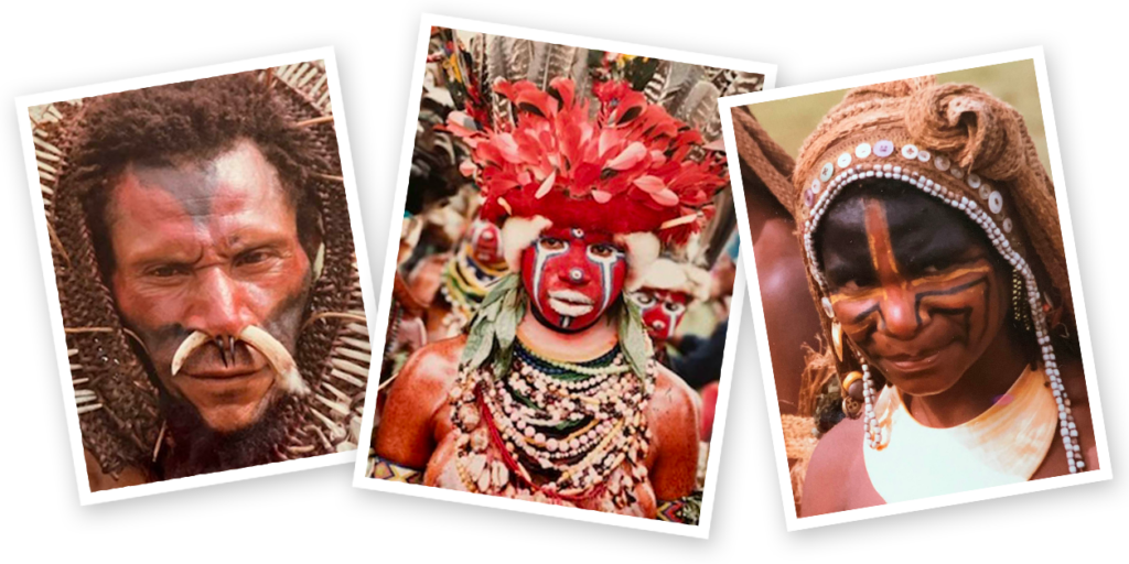 Papua New Guinea faces collage