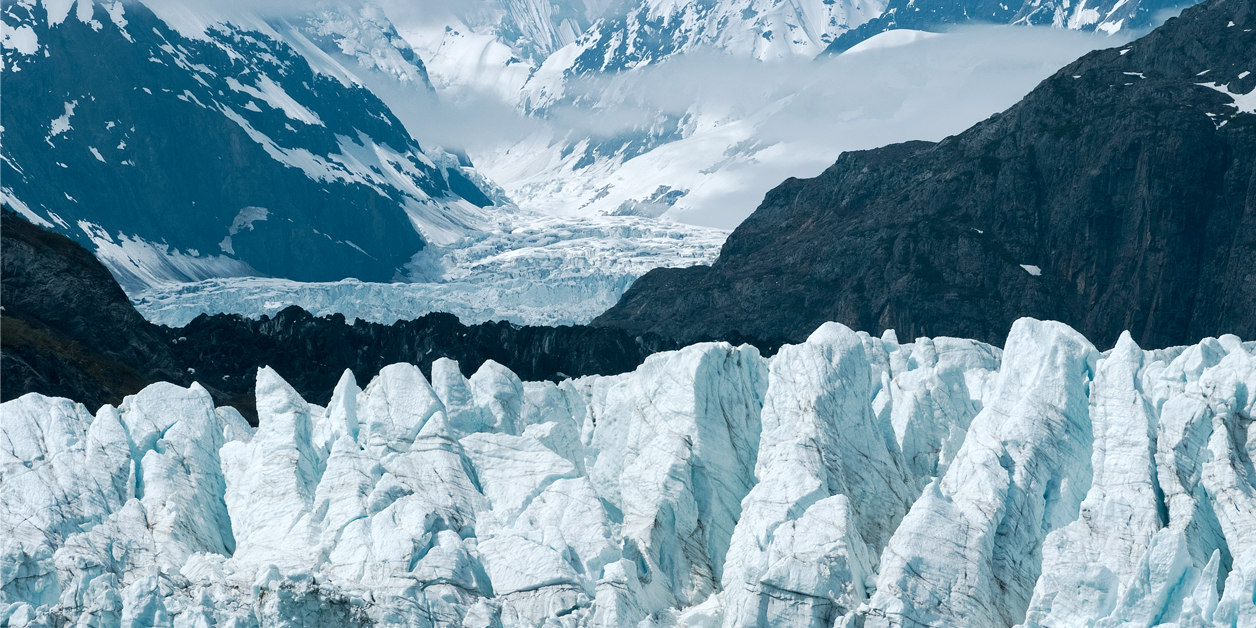 Margerie Glacier at Glacier bay national park in Southeast Alaska.