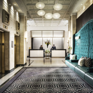 Reception and elevator area of the Sofitel Washington D.C.
